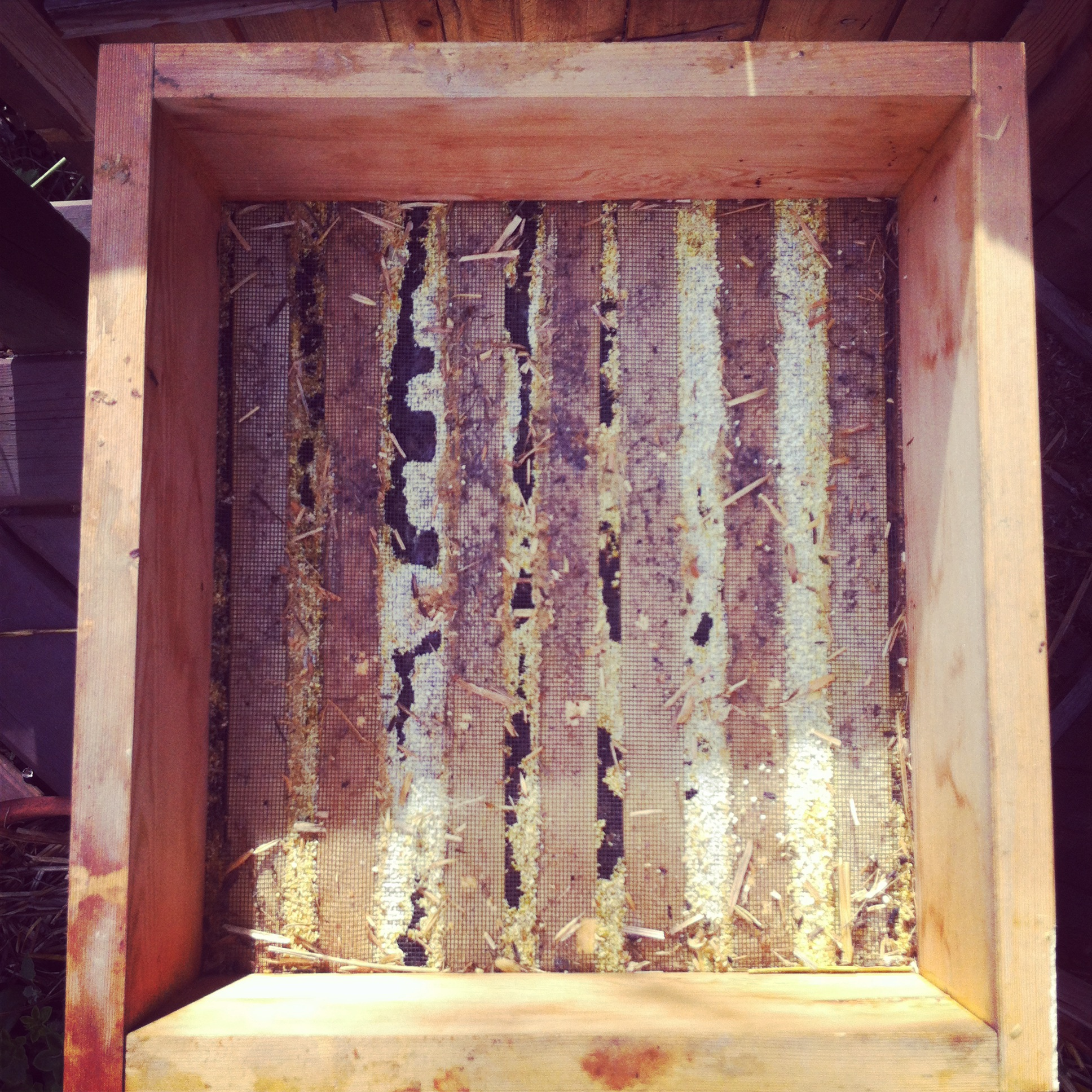Warre Hive, Quilt Top Layer, Hive Ventilation Regulated With Propolis