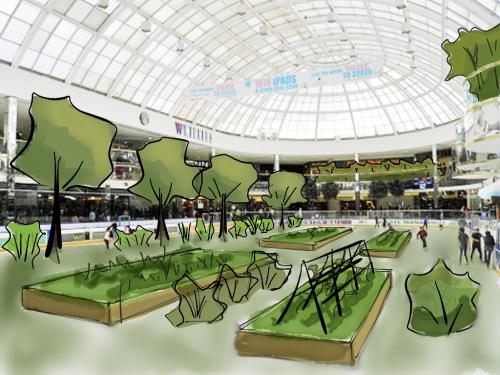 West Edmonton Mall Ice Palace Garden